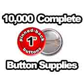 10,000 x Pinned Back Button Supplies 1 inch